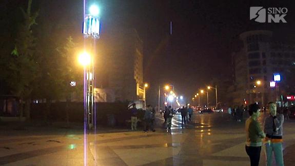 Hanging out at night in Jiadi Square at night | Image: Matthew Bates