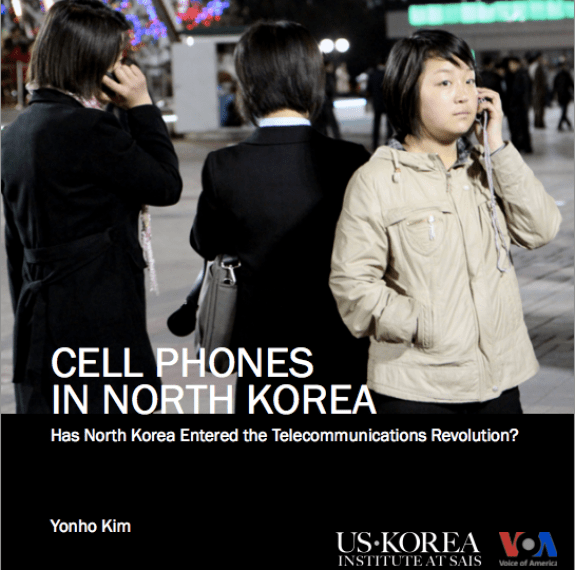 Front Cover to Yonho Kim's report on cell phone usage in North Korea | Image:  US Korea Institute