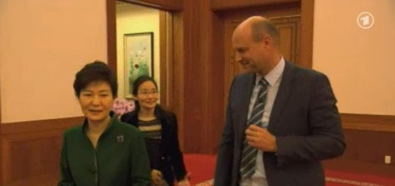 Philipp Abresch and President Park at the beginning of the interview. | Image: