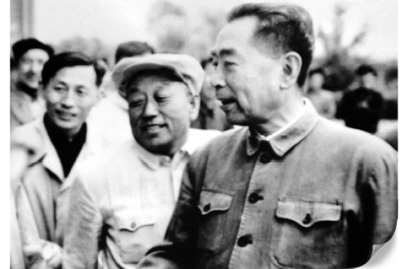 Zhou Enlai with Cho Dok-hae in Yanbian, 1962. Image via Adam Cathcart.