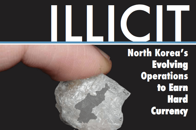 The cover to Sheena Greitens' NKHR report on North Korea's illicit business activities.
