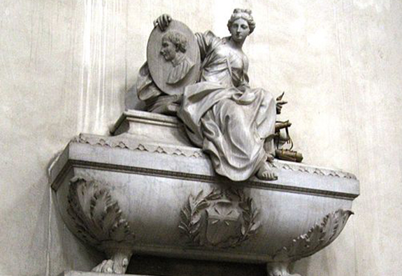 Machiavelli's cenotaph in the Santa Croce Church in Florence. | Image: Gryffindor, Creative Commons 3.0