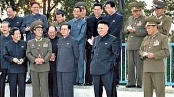 The one who failed to smile. Jang Song-taek looking glum on the day the alleged assassination attempt was foiled. | Image: KCTV