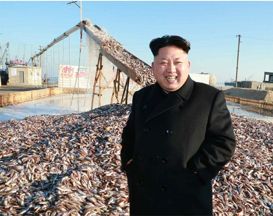 Kim Jong-un visited the KPA-run No.18 Fisheries Station in November 2014. | Image: KCNA