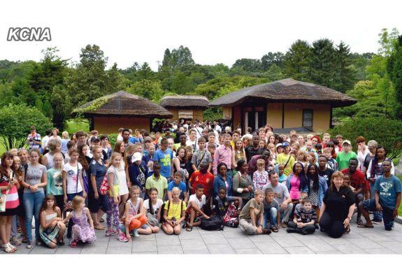 International Campers at Mangyongdae | Image: KCNA