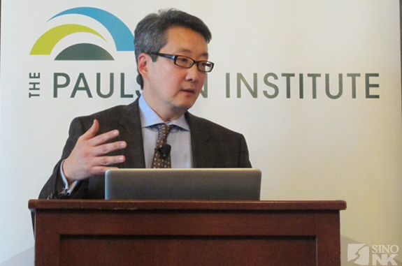 Victor Cha at the University of Chicago's Paulson Institute | Image: Sherri Ter Molen/Sino-NK
