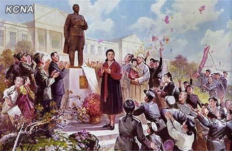 KIm Jong-suk and statue
