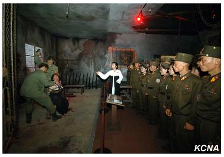 Red Flag Relay Visits the Sinchon Museum Image: KCNA