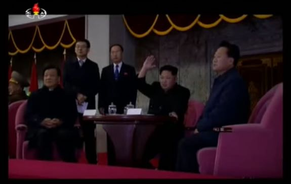 Kim Jong-un is joined by senior Chinese official Liu Yunshan (Kim's right) and Choe Ryong-hae, who has emerged as North Korea's key PRC-DPRK relations point man. | Image: CCTV/YouTube