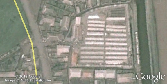 Aerial view of Tonghungsan Market in Hamghung | Image: Google Earth via Curtis Melvin