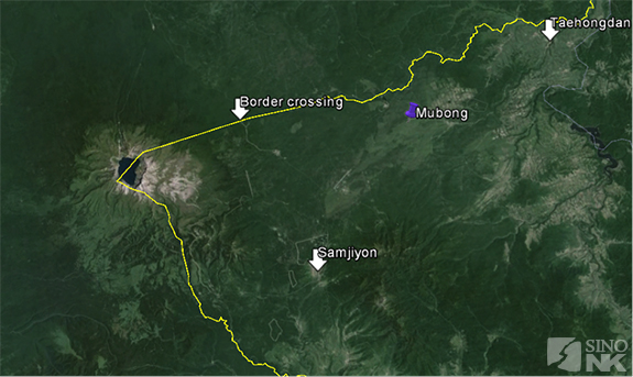 The approximate location of the Mubong International Travel Zone. | Image: Théo Clément/Sino-NK