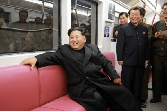 Kim Jong-un drags Pyongyang into the future on a new mass transit line. | Image: Rodong Sinmun
