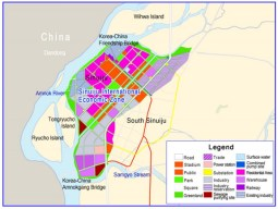 Planning map for Sinuiju International Economic Zone