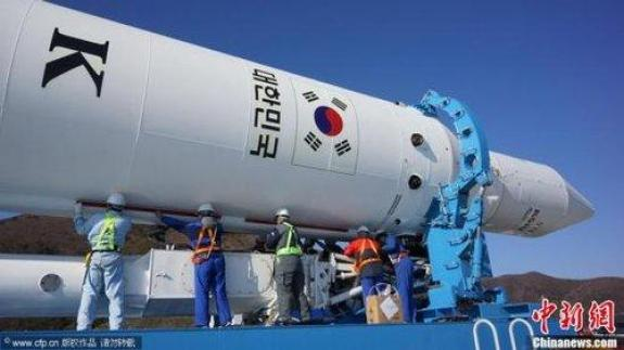 """The launch of South Korea's """"Naro-1"""" rocket in late November 2012. 