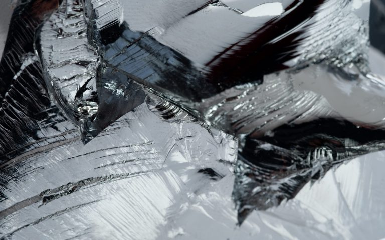 Close up of polycrystalline silicon
