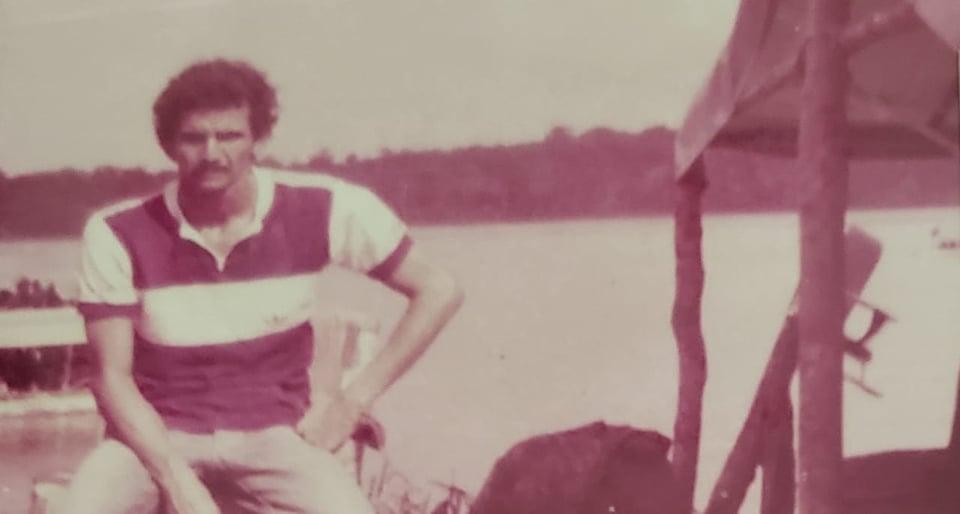 Josmar Câmara no Garimpo de Imbaúba no ano de 1983