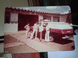 Danin e os saudosos Acassio, Erasmo e Brasilia que trabalhou em Vilhena
