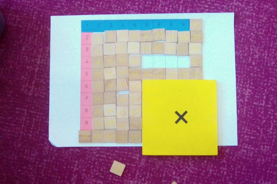 multiplication montessori jetons de résultat