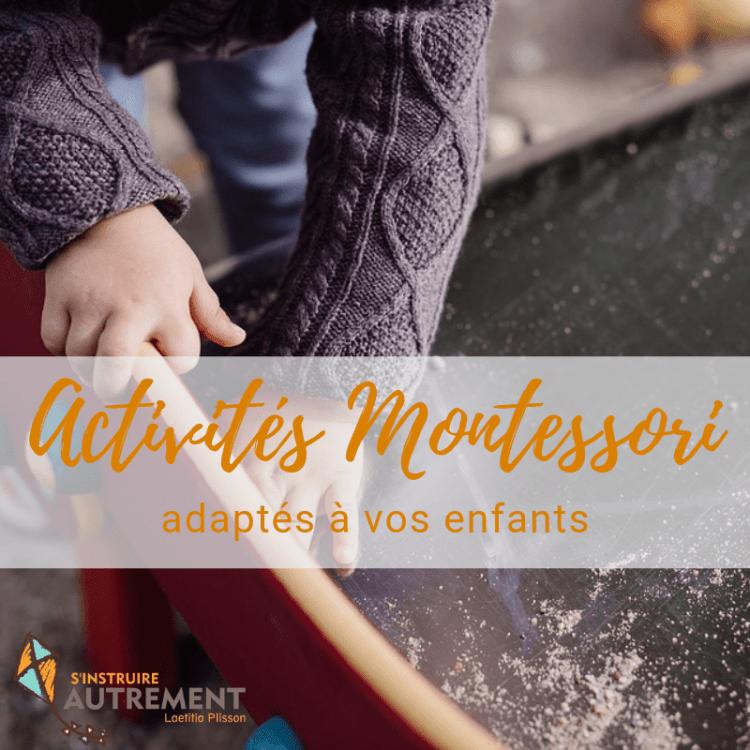 Activités Montessori adaptées pour enfants