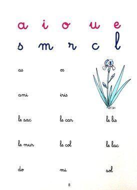 méthode Montessori pour apprendre  à lire.