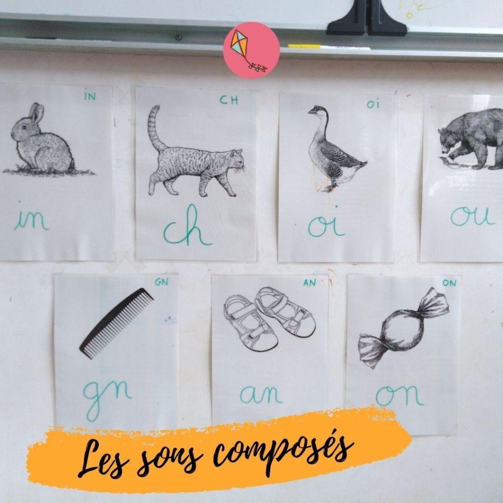 Des affiches avec les sons composés pour aider ton enfant à apprendre à lire, selon Montessori