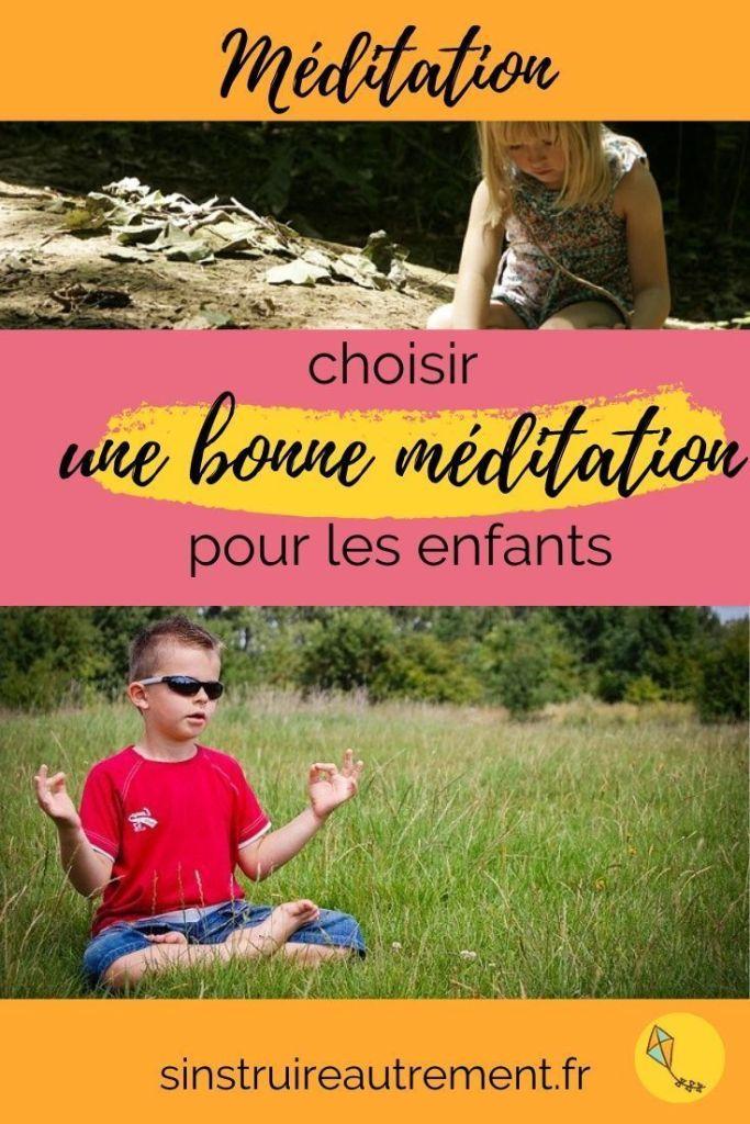 Je t'aide à choisir une bonne méditation pour les enfants de 5 à 10 ans.