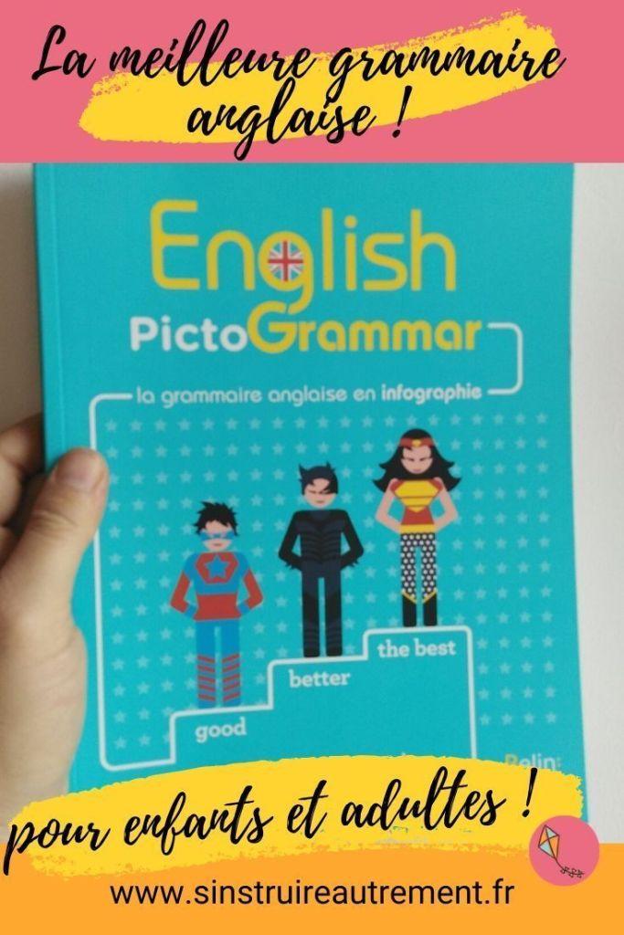 un livre de grammaire anglaise sympa et visuelle, pour enfants de primaire et collège. Un des meilleurs livres pour apprendre l'anglais aux enfants