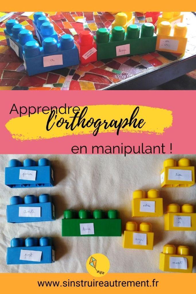 La manipulation : façon d'apprendre très intéressante pour les enfnts, aussi en primaire ou au collège ! Ici, mes explications pour apprendre l'orthographe