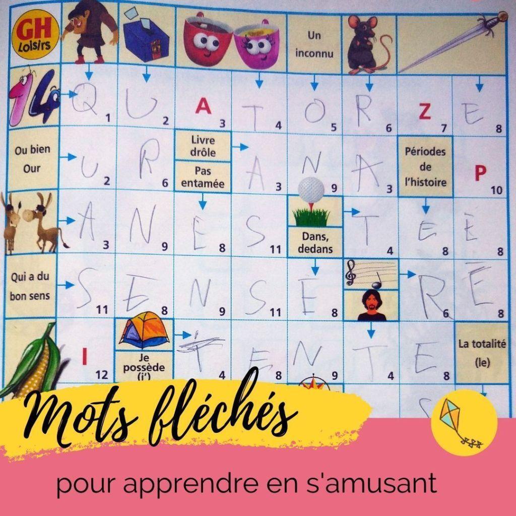 Mots fléchés : des cahiers de jeux pour apprendre en s'amusant, idéal pour les enfants dès 6 ans