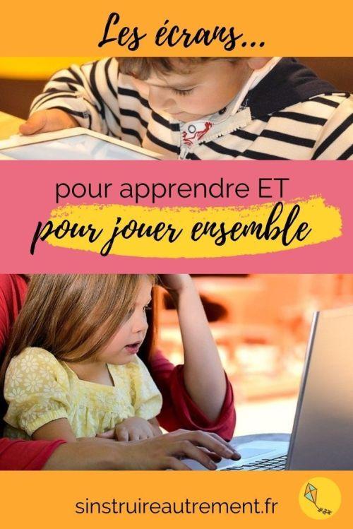 Les écrans : pour que nos enfants puissent jouer et apprendre