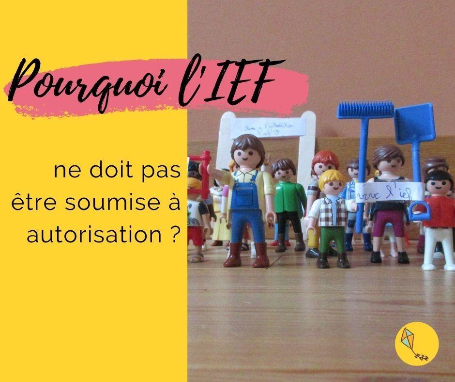 Pourquoi l'IEF ne doit pas être soumise à autorisation ?