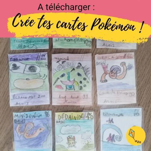 Crée tes propres cartes Pokémon ! Une trame à imprimer, et laisser libre cours à l'imagination de tes enfants.