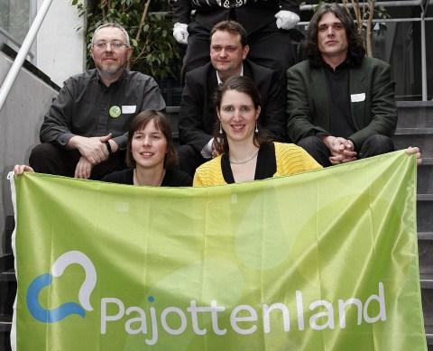 PAJOTTENLAND: de vijf projectmedewerkers uit de drie regio's