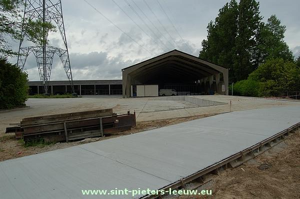Nieuw containerpark aan Site 250 op de Pepingensesteenweg