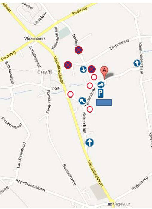 bron kaart: politie Sint-Pieters-Leeuw