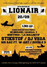 affiche 10de Lionair in Sint-Pieters-Leeuw