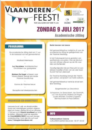 2017-07-09-affiche_Vlaanderen-Feest_Sint-Pieters-Leeuw