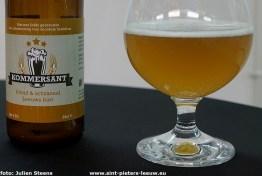de Kommersant een lokaal biertje van Handelsvereniging RinkRond Leeuw uit Sint-Pieters-Leeuw