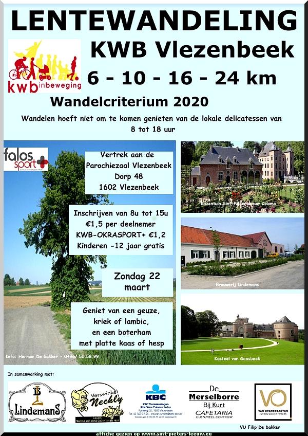 Lentewandeling KWB Vlezenbeek