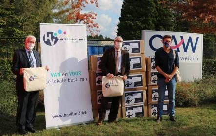 2020-10-19 - Haviland schenkt 9000 mondmaskers aan CAW Halle-Vilvoorde 1