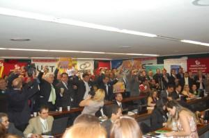 Momento da aprovação da Lei em Brasília