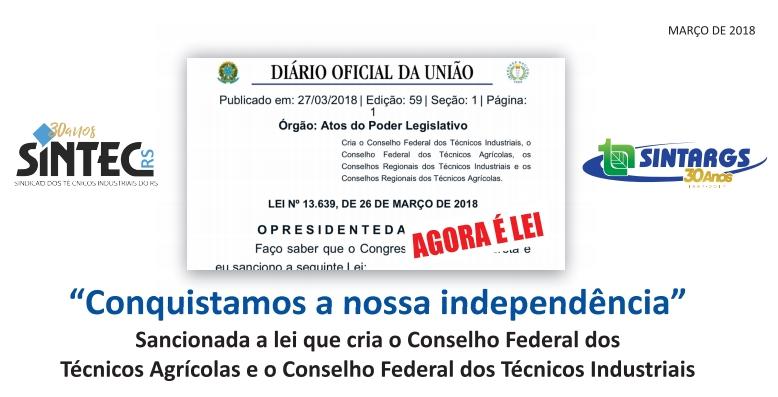 Criação Do Conselho Federal Dos Técnicos Industriais Sancionada Em Brasília!