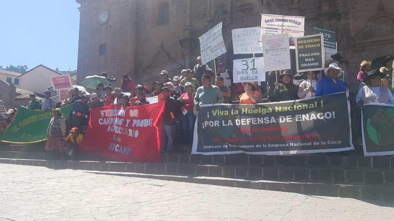 Trabajadores de ENACO suspenden huelga indefinida