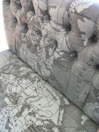 Map fabric used in an imaginative way.