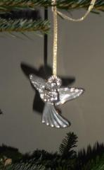 An etched Waterford Glass angel.