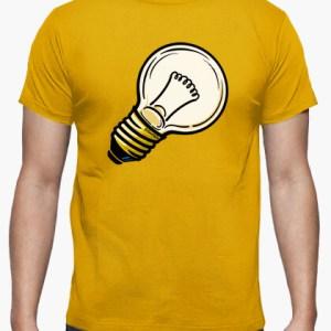 Camiseta Bombilla color mostaza