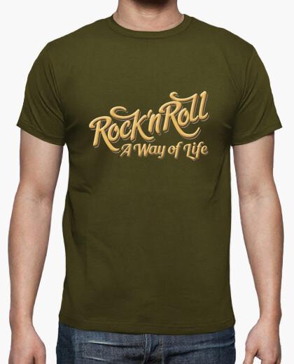 Camiseta Rock n Roll WOL color army