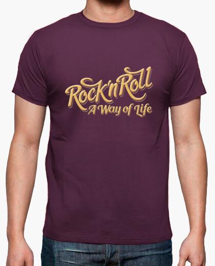 Camiseta Rock n Roll WOL color morado