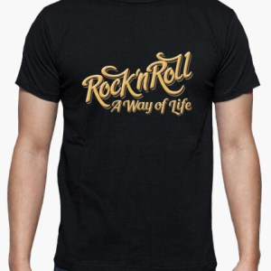 Camiseta Rock n Roll WOL color negro