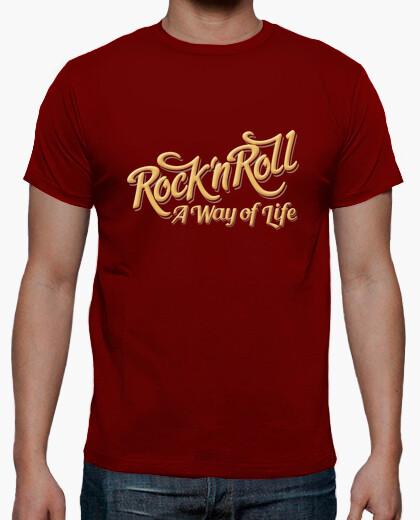 Camiseta Rock n Roll WOL color rojo